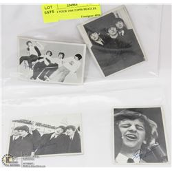 LOT OF FOUR 1964 TOPPS BEATLES CARD