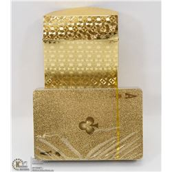 24 CARAT GOLD FLECKED PLAYING CARDS