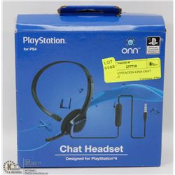 ONN PLAYSTATION 4 PS4 CHAT HEADSET