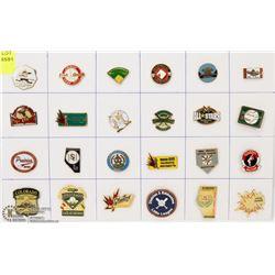 SHEET OF 24 LITTLE LEAGUE BASEBALL PINS