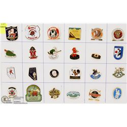 SHEET OF 24 OLD TIMERS HOCKEY PINS