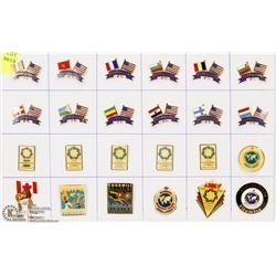 SHEET OF 24 GOODWILL GAMES PINS