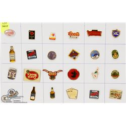 SHEET OF FOOD AND DRINK PINS