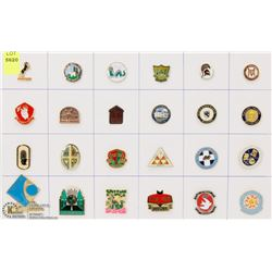 SHEET OF SCHOOL PINS