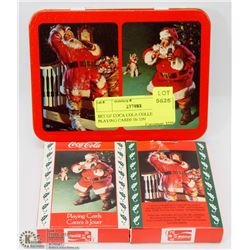 SET OF COCA COLA COLLECTOR PLAYING CARDS IN TIN