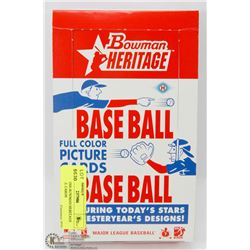 BOX OF 2006 BOWMAN HERITAGE BASEBALL CARDS