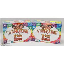 2 NEW 3 STOOGES TRIVIA GAMES