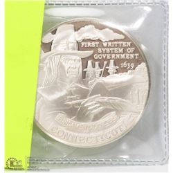 US SILVER CONNECTICUT BICENTENNIAL COIN