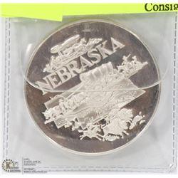 US SILVER NEBRASKA BICENTENNIAL COIN