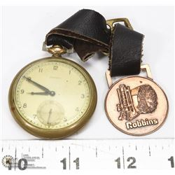 VINTAGE ADMIRAL POCKETWATCH WITH LEATHER STRAP