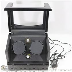 EXECUTIVE ENCASED WATCH WINDER WITH GLASS DISPLAY