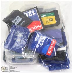 BAG OF SD MEMORY CARDS
