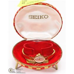 VINTAGE SEIKO LADIES WATCH WITH ORIGINAL BOX