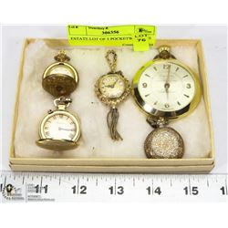ESTATE LOT OF 5 POCKETWATCHES