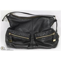 GENUINE MICHAEL KORS BLACK LEATHER PURSE