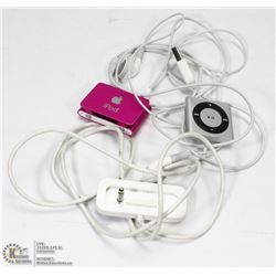 LOT OF 2 IPODS, 1 CHARGER AND SET OF HEADPHONES.