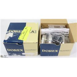 PAIR OF DOREX DEADBOLTS.