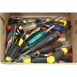 BOX OF MISC TOOLS SOME NEW