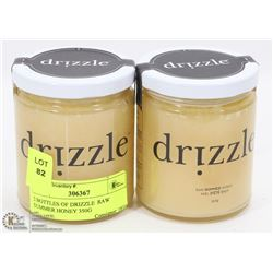 2 BOTTLES OF DRIZZLE  RAW SUMMER HONEY 350G