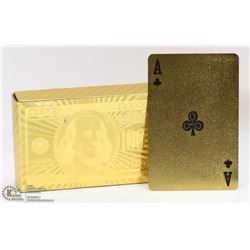 PACK OF GOLD FOIL WATERPROOF PLAYING CARDS
