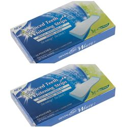 PACK OF 28 ADVANCED TEETH WHITENING STRIPS