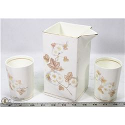 VINTAGE SURYA POTTERIES PITCHER WITH 2 TUMBLERS