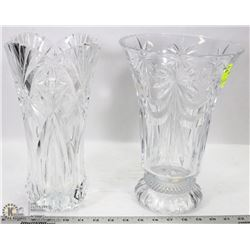 LOT OF 2 CRYSTAL VASES
