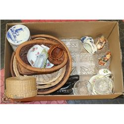 BOX OF ASSORTED COLLECTIBLES GOEBEL HUMMEL, WEST