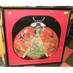 FRAMED LADYBUG PUZZLE PICTURE