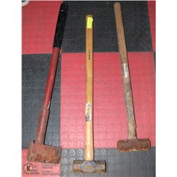 LOT OF 3 SLEDGE HAMMERS