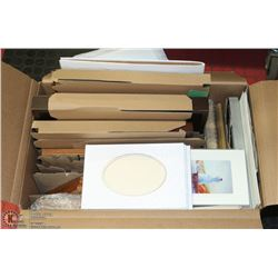 BOX OF 7 PICTURE FRAMES (SOME WITH GLASS), 4