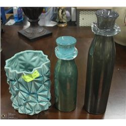3PC SHOWHOME VASE COLLECTION