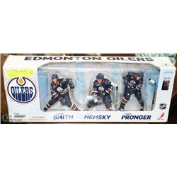NEW OILER COLLECTIBLE HOCKEY FIGURINES IN