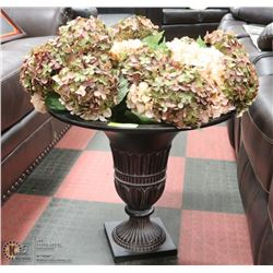 LARGE SHOWHOME  VASE WITH HYDRANGEA FLOWERS