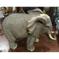 LARGE RESIN REALISTIC ELEPHANT
