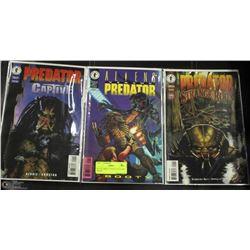 SET OF THREE #1 PREDATOR COMIC BOOKS