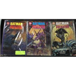 BATMAN VERSUS PREDATOR --- COLLECTOR'S EDITIONS