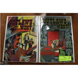 OUTLAWS OF THE WEST COMICS W/STEVE DITKO ART