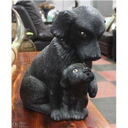 MOM & BABY DOG STATUE
