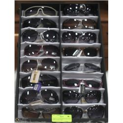 LOT OF  DESIGNER SUNGLASSES DISPLAY INCLUDED