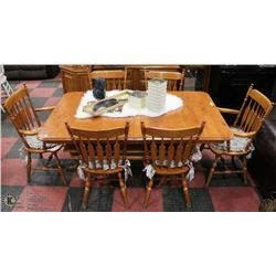 """MAPLE TABLE WITH 6 CHAIRS 42X65X29"""""""