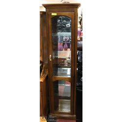 """SOLID WOOD CURIO CABINET 18X11X77"""". FURNITURE"""