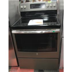 """GE PEWTER COLOR 5 BURNER CONVECTION STOVE 30"""""""