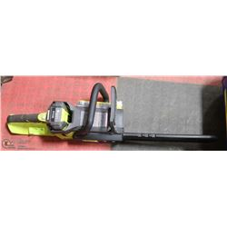 RYOBI 40 VOLT CORDLESS CHAINSAW WITH CHARGER