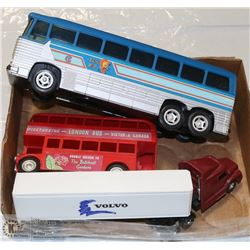 FLAT OF VINTAGE TRUCK BUS CARS
