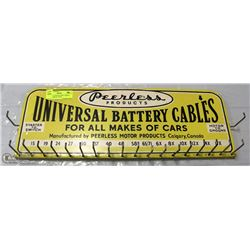 PEERLESS CAR BATTERY CABLES STORE DISPLAY 1950'S