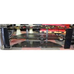 GLASS TV STAND FOR LARGE FLAT SCREEN TV
