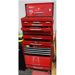 RED 3 PC TOOL BOX