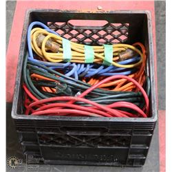 CRATE W/ 6 EXTENSION CORDS 3 ARE 30'-40', 3 ARE