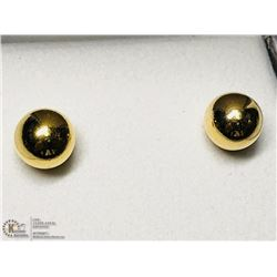 13) STERLING SILVER GOLD PLATED EARRINGS